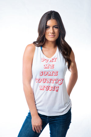 Z Play Me Country Muscle Tank