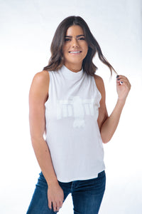 Thunderbird Tank Mock Neck White