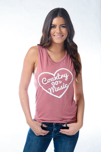 90s Country Muscle Tank Mauve