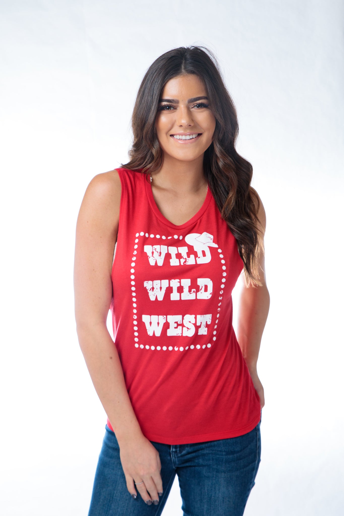 Z Wild Wild West Muscle Tank Red
