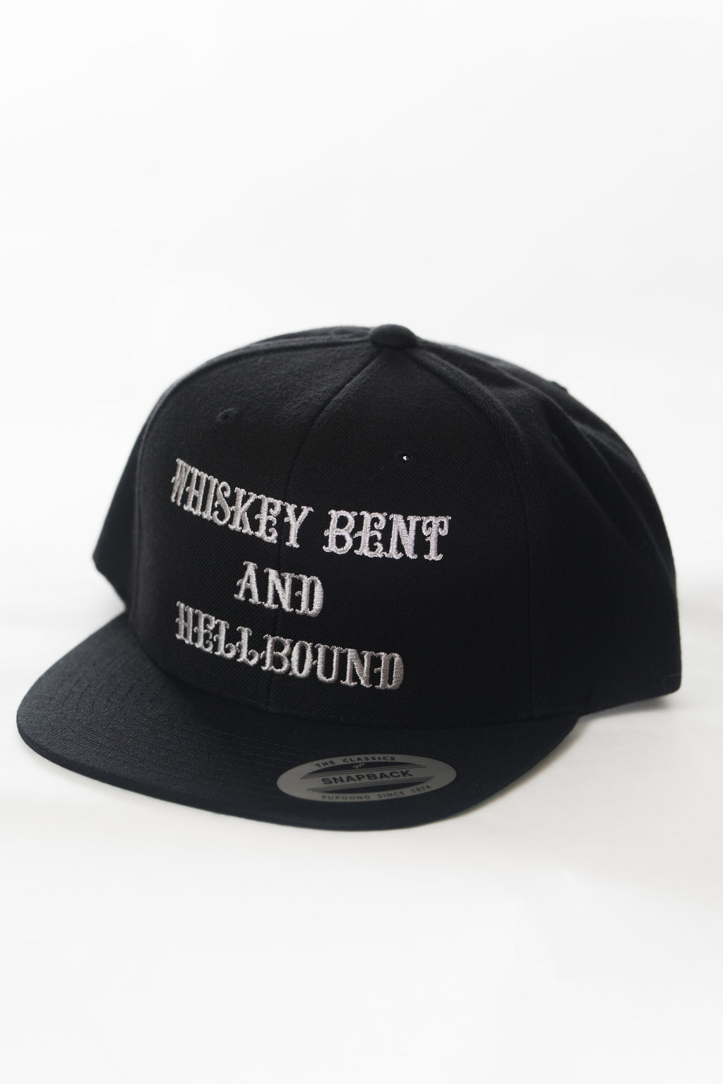 Whiskey Bent and Hellbound Snapback Black
