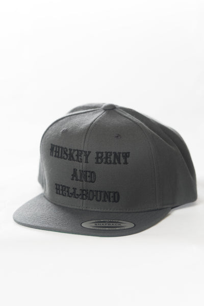 Whiskey Bent and Hellbound Snapback Charcoal