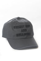 [SUMMER SALE] Whiskey Bent and Hellbound Hat Charcoal