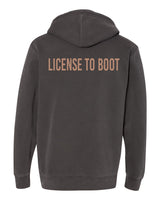 License to Boot Back Hoodie Gray/Mauve