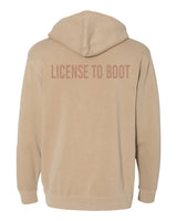 License to Boot Hoodie Sand