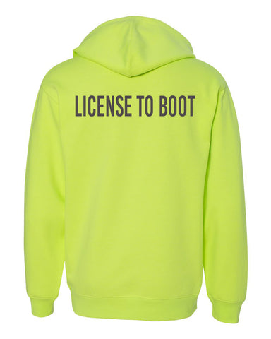 License to Boot Back Hoodie Safety Yellow/Gray