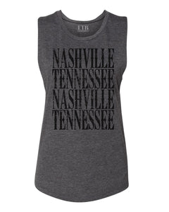 Nashville Muscle Tank Gray