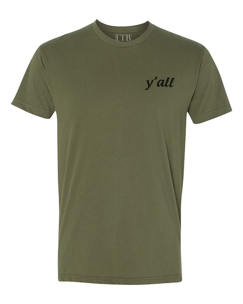 Y'all Tee Olive Green