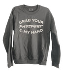 Passport Crewneck Sweatshirt Charcoal