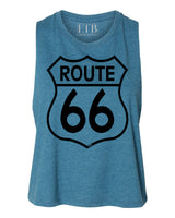 Route 66 Crop Top Teal
