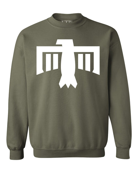Thunderbird Crewneck Sweatshirt Army Green