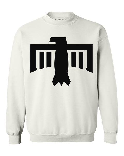Thunderbird Crewneck Sweatshirt White/Black