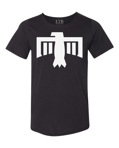Thunderbird Tee Raw Neck Black