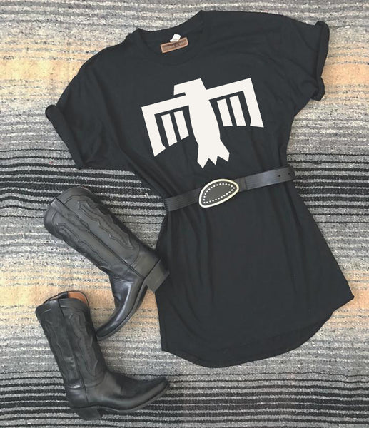 [SUMMER SALE] Thunderbird T-Shirt Dress Black