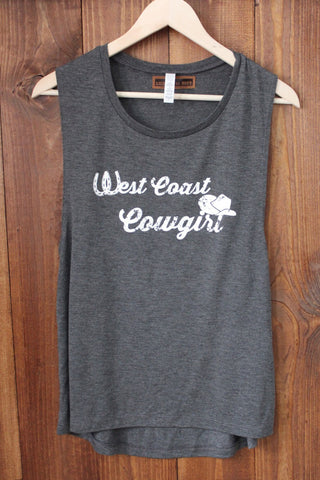 West Coast Cowgirl Tank Caleche Ryder Collaboration Gray