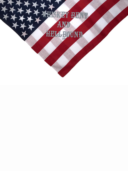 Whiskey Bent and Hellbound Bandana American Flag