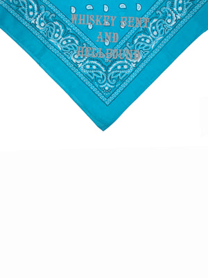Whiskey Bent and Hellbound Bandana Turquoise