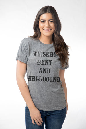 Whiskey Bent and Hellbound Gray Tee