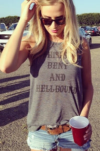 Whiskey Bent and Hellbound Signature Tank 1.0 Gray