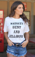 Whiskey Bent and Hellbound Tee White