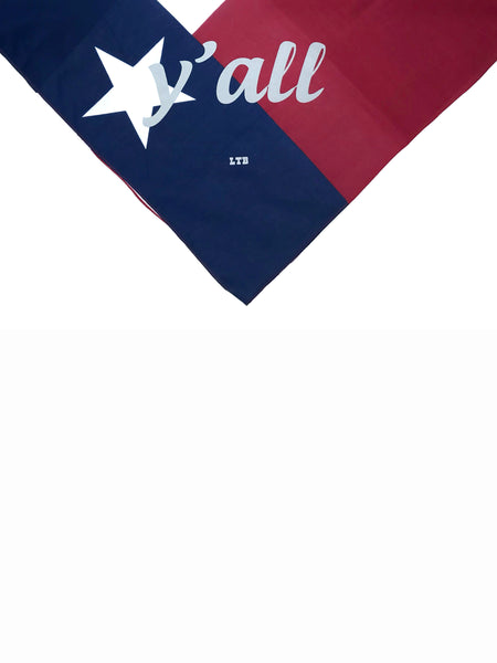 [SUMMER SALE] Y'all Bandana Texas Flag