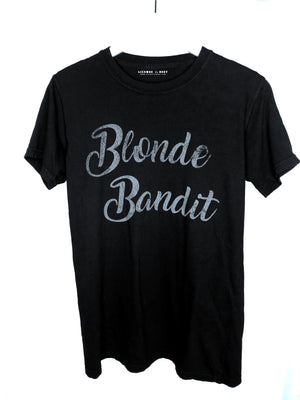 Z Blonde Bandit Black Tee