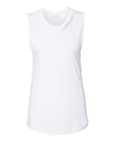 [LTB Customs] Embroidered Collar Tank White