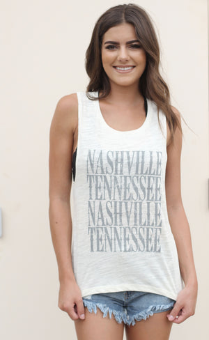 Nashville Muscle Tank Natural