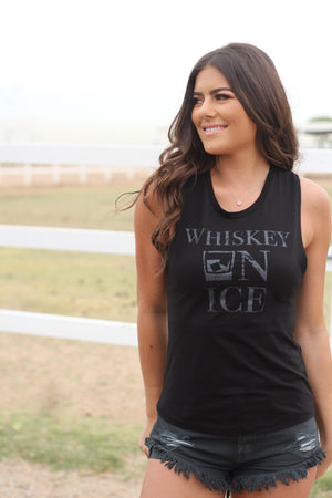 Whiskey On Ice Tank Black