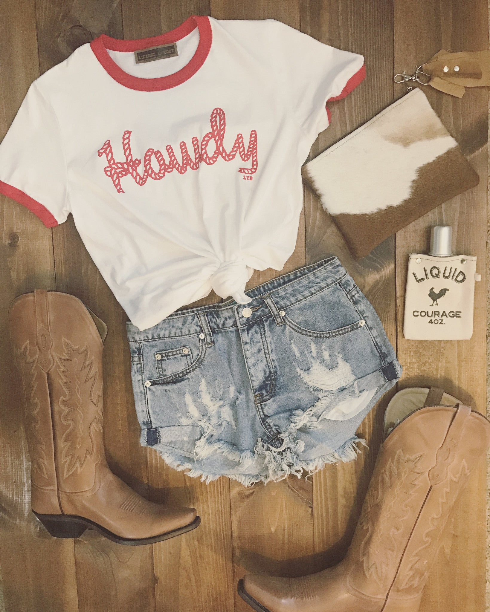 Howdy Tee Red
