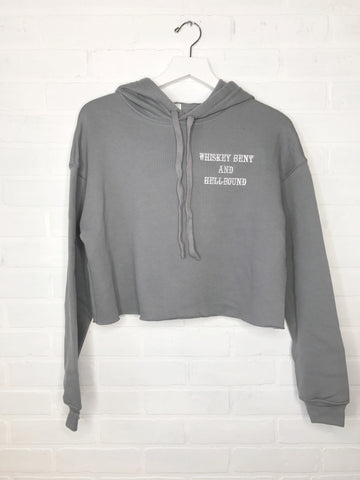 Whiskey Bent and Hellbound Cropped Hoodie