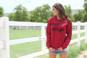 Buck Off Sweatshirt Maroon