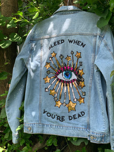 Sleep When You're Dead Jacket Oversized Medium