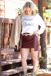 Blonde Bandit White Long Sleeve
