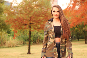 Camo Jacket with Hood Small
