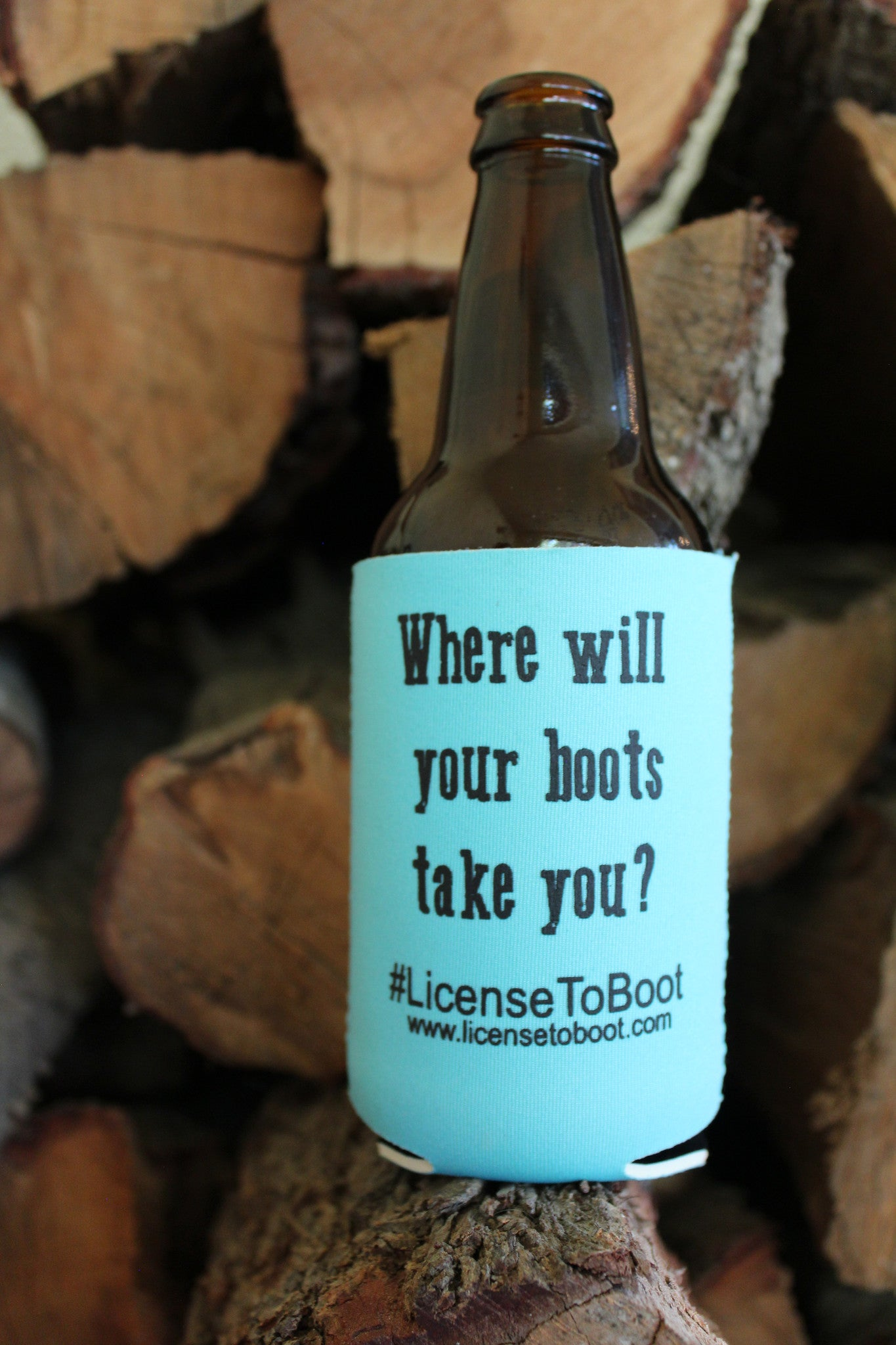 License to Boot Koozie Turquoise