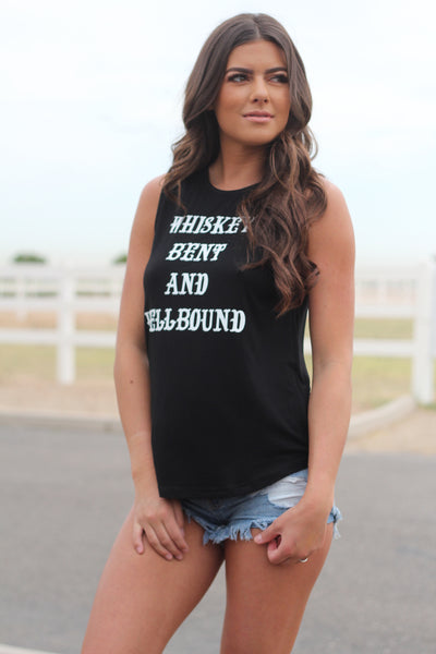 Whiskey Bent and Hellbound Signature Tank 2.0 Black and White
