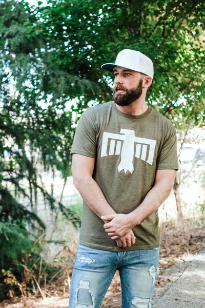 Thunderbird Long Mens Tee Olive