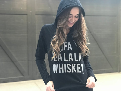 Fa La La La Whiskey Hooded Long Sleeve