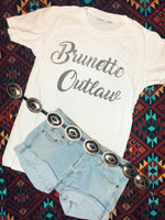 [SUMMER SALE] Brunette Outlaw White Tee