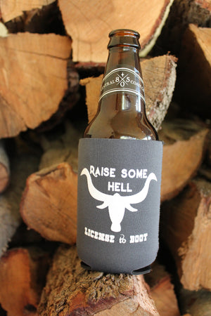Raise Some Hell Koozie Charcoal