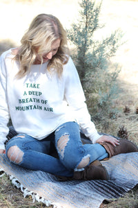 Mountain Air Sweatshirt Off White