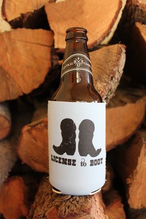 License to Boot Koozie Light Blue