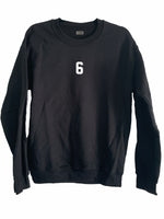 [LTB Customs] Embroidered Jersey Number Crewneck Sweatshirt Black