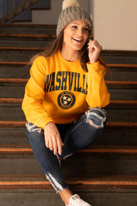 Nashville Sweatshirt Gold