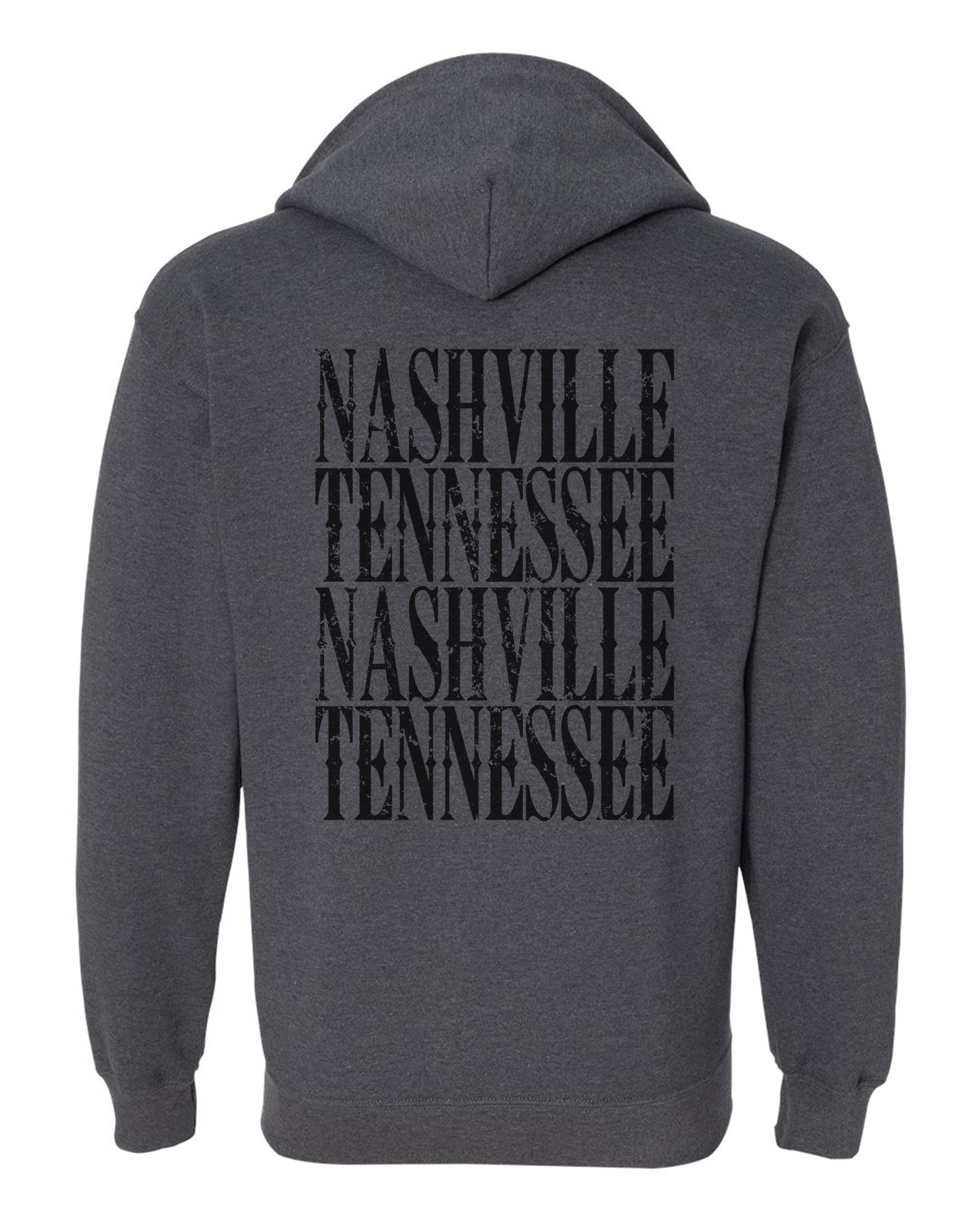 Nashville Zip Up Sweatshirt Gray