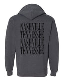 [SUMMER SALE] Nashville Zip Up Sweatshirt Gray