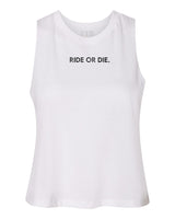 Ride or Die Crop Top White