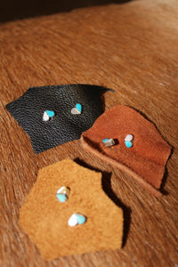 Turquoise and Mother of Pearl Heart Earrings