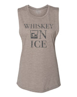 Whiskey On Ice Muscle Tank Ash